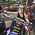 Evie and Sylvia Dirtbiking